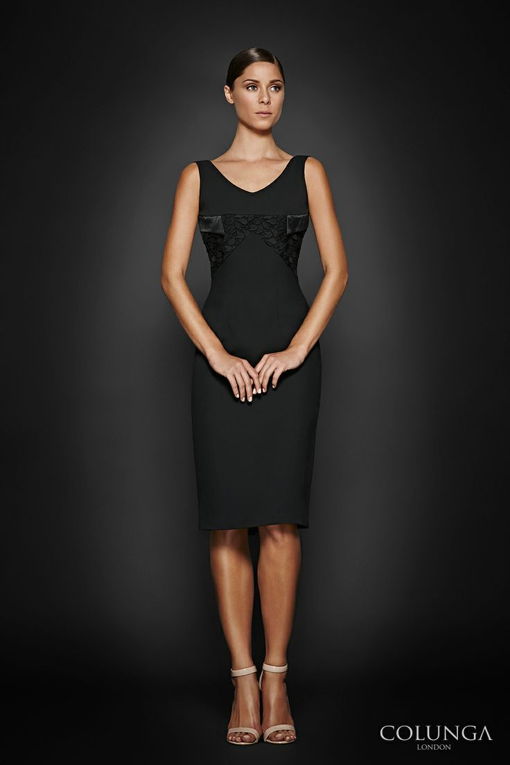 Eugenie. Dress of fine viscose, lace and Italian silk satin.
