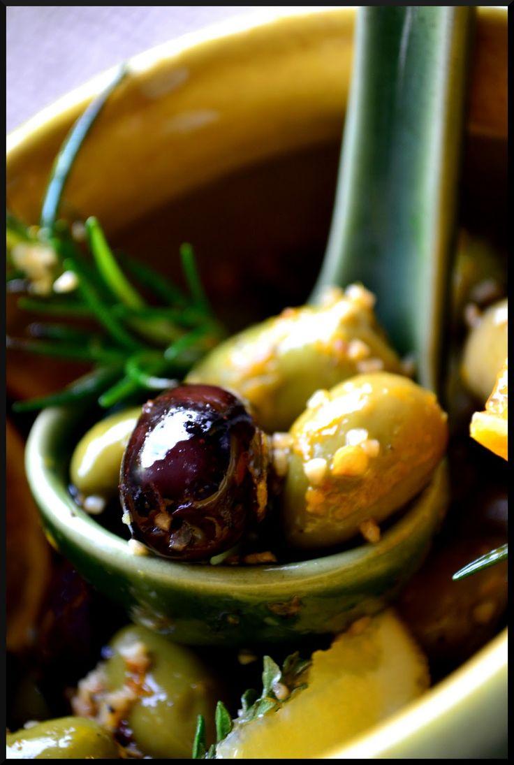 ACEITUNAS CON ALIÑO DE CITRICOS (Citrus Marinated Olives) #AceitunasAliñadas