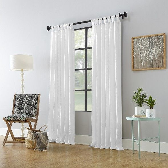 Washed Cotton Twist Tab Curtain Archaeo White Curtains Tab Curtains Curtains