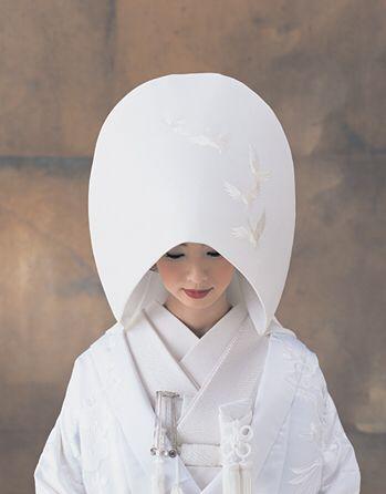 Pristine White Shiromuku and Wataboushi