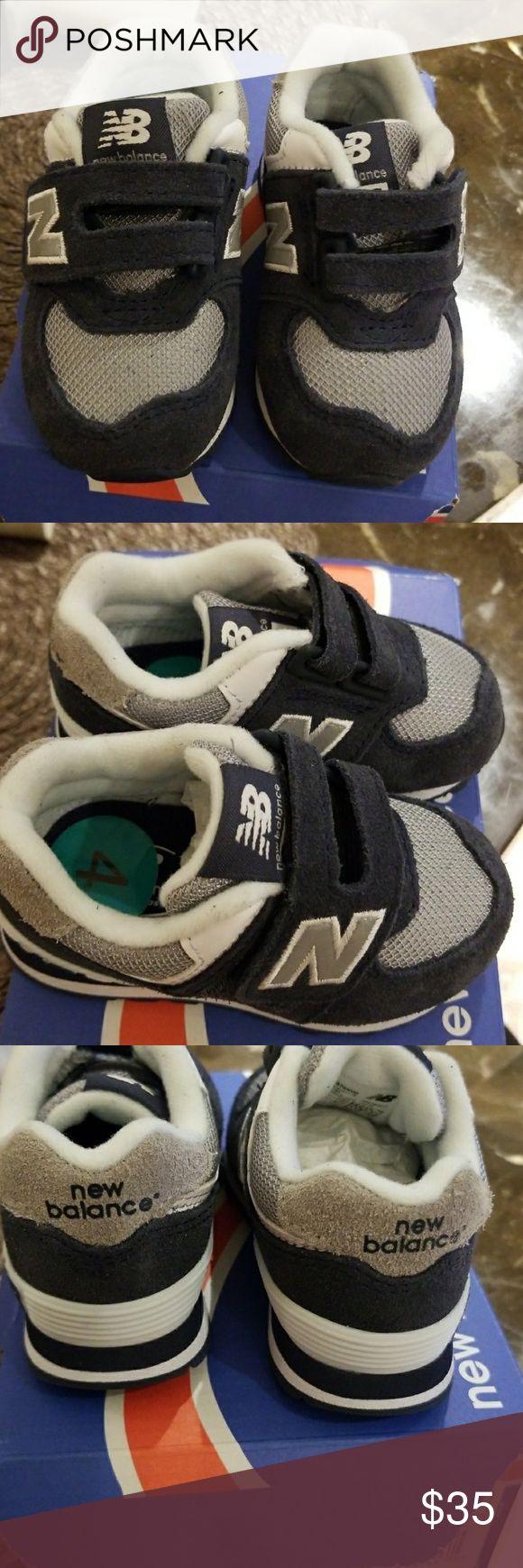 Final Sale Infant New Balance 574 Nwb Blue & Grey New Balance size 4....no lace sneakers New Balance Shoes Baby & Walker