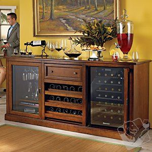 Siena Wine Credenza with 28 Bottle Touchscreen Wine Refrigerator at Wine Enthusiast - $1995.00