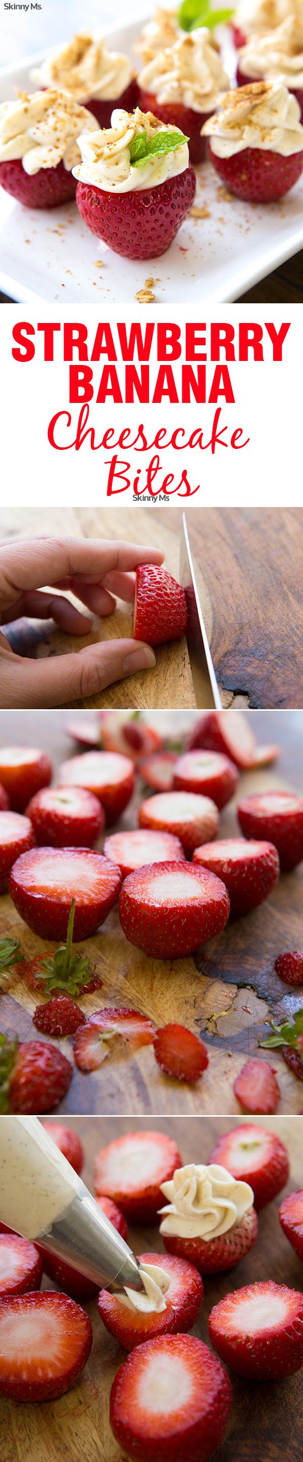 sennheiser Strawberry Banana Cheesecake Bites Recipe Sweets Cheesecake Bites and Cheesecake
