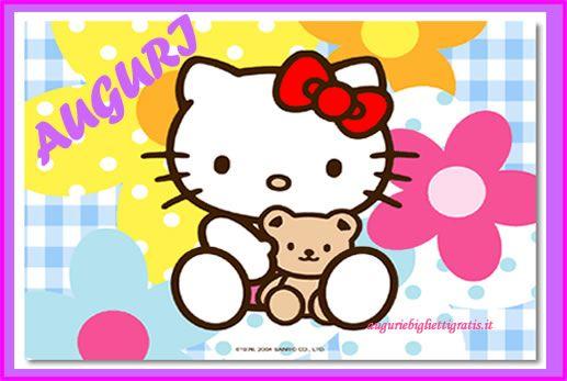 biglietto di auguri di buon compleanno di hello kitty