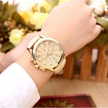 xiniu Fashion Watches Geneva Women Casual PU Leather Bracelet Roman Numeral Quartz Wristwatch Relogio feminino Montre Femme  Price: 1.52 USD
