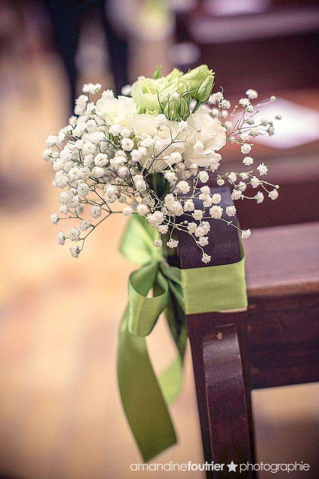 bouquet banc église mariage mille et une organisations de prestige