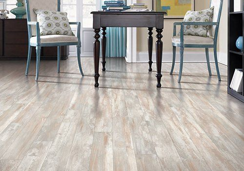 Distressed Pine Laminate Vinyl Plank Flooring, Maple
