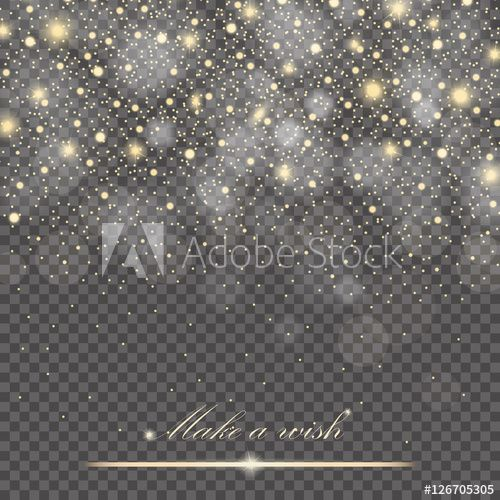 Ice Cream Background Sparking Shiny Decoration Free Vector: Vector Gold Glitter Particles Background Effect For Luxury