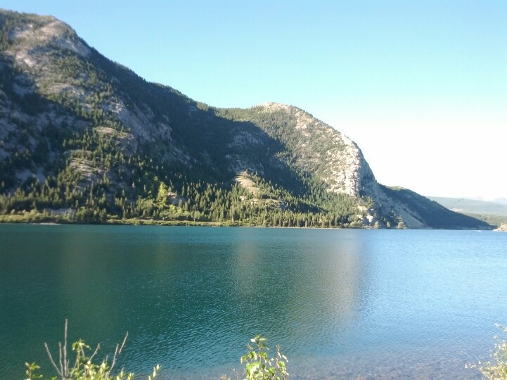 Lake in the Crowsnest Pass, Alberta