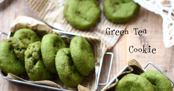 サラダ油とマーガリンで作るのでとっても簡単! サックサクな軽い食感のクッキー♡ 抹茶味です♪