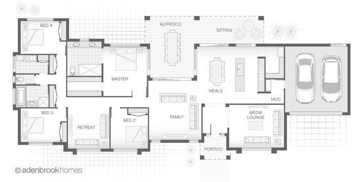 From 281.2m2, 4 Bedrooms, 2 Bathrooms, 2 Car Garage. Suitable for wide lots and acreage, the Beacon is a family home with living and entertaining in mind.