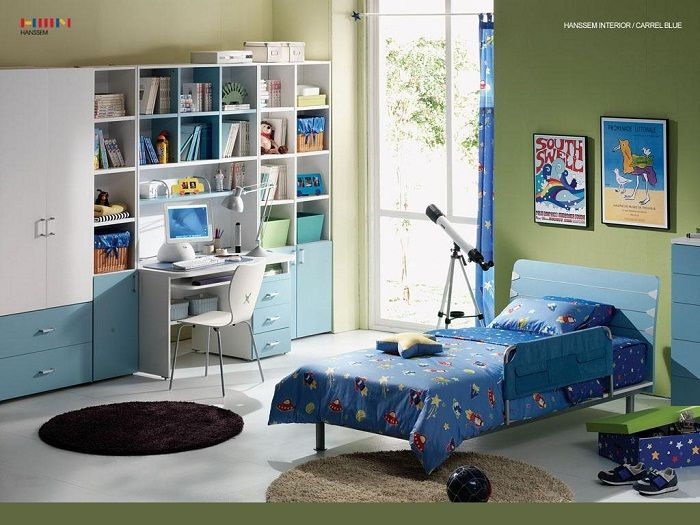 Blue Kids Room Designs India Colorful Study Design Ideas Combination With Modern Children Bedroom