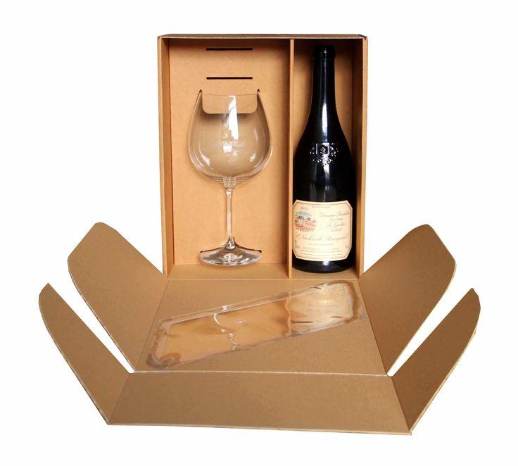 dárková krabice na víno a sklenici