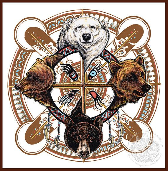 Bear Totem Spirit Shield by Sandra SanTara, Windwolf Studio