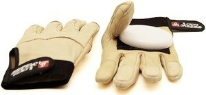 Landyachtz Khaki Leather Slide Gloves