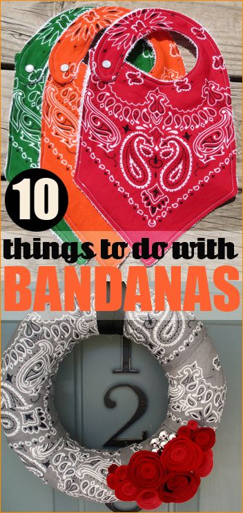 10 Things To Do With Bandanas Creative Ideas For Home Decor Accesories And Parties