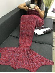 Chic Knitted Fishtail Blanket For Women in Red   Sammydress.com Mobile