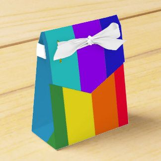 """Rainbow Stripes"" Party Favor Box and/or a cute gift box filled with something special and already ""wrapped""."