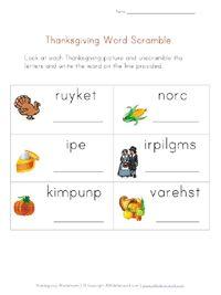 Printable Thanksgiving Worksheets for Kids