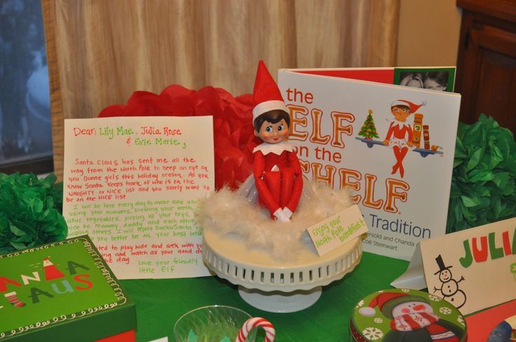 Introducing the elf with a Notth Pole breakfast