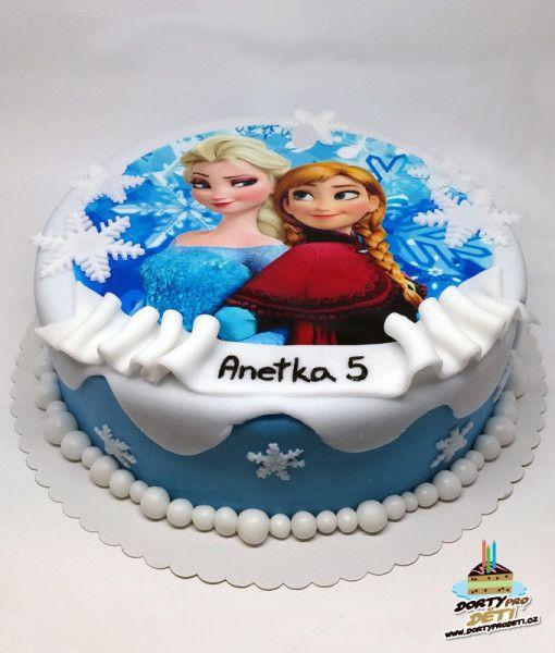 Dorty pro děti – dětské dorty – Anna a Elsa – Ledové království – Frozen (jedlý…