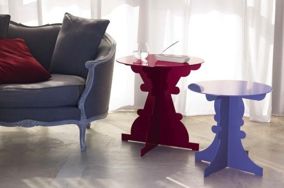 Tables Artù et Ginevra (186 couleurs RAL disponibles)