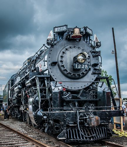 1225 Steam Locomotive - hubby actually was an engineer- for- the day on the 1225!