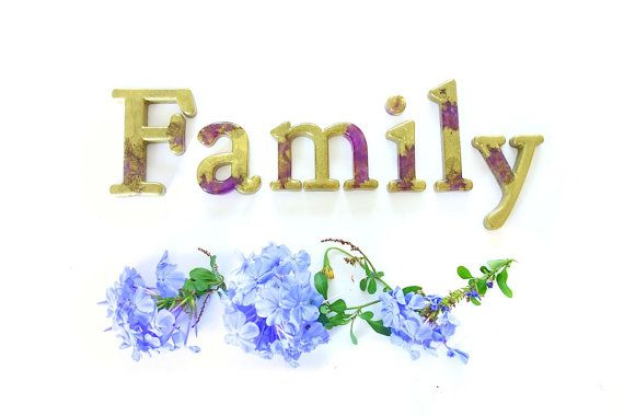 Family Artisan Decorative Word Art in Resin by WordosaurusText, $51.00