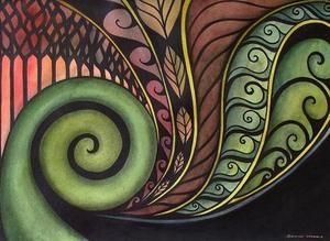 maori koru paintings - Google Search