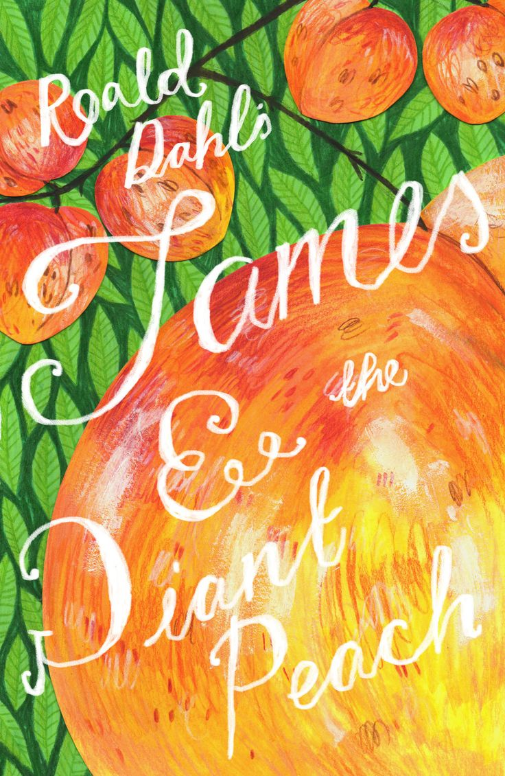 Reimagined cover for Roald Dahl's James and the Giant Peach.