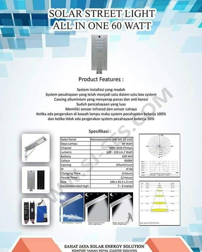 Promo Lampu All In One 60 Watt System Installasi Mudah Cassing Alumunium Yg Menyerap Pa Lampu Bercahaya Brosur