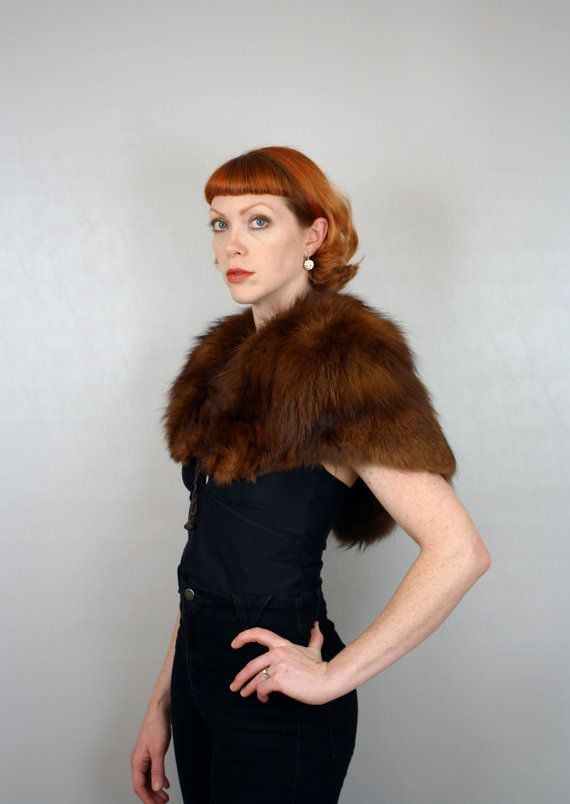 perhaps i shall wear a fur shrug. don't throw paint on me, it's vintage.