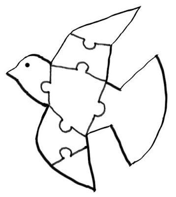 Menta Más Chocolate - RECURSOS y ACTIVIDADES PARA EDUCACIÓN INFANTIL: Puzzle paloma DÍA de la PAZ