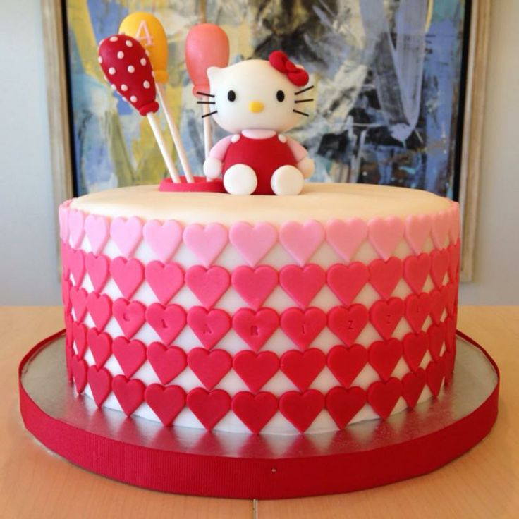 Simple Hello Kitty Cake Design Dmost for