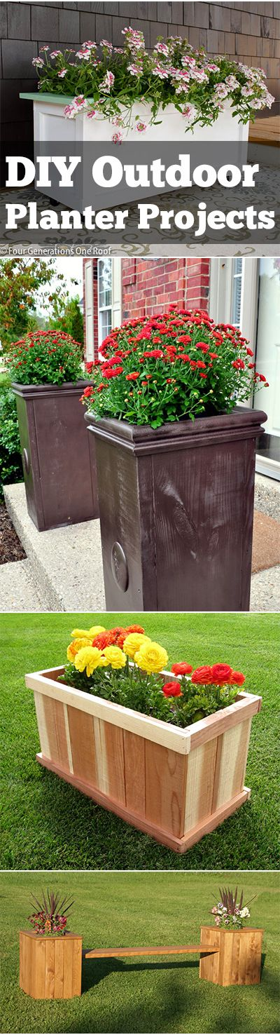 Delightful Outdoor Planter Projects