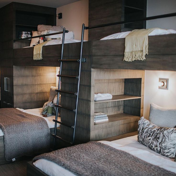 """135 Likes, 9 Comments - Anne-Marie Barton (@annemariebarton) on Instagram: """"Beds aren't just for sleeping... We love these bunks we custom designed to double as wardrobe…"""""""
