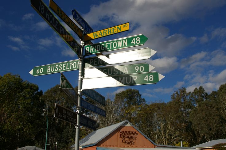 The signpost on the corner of Brockman Street and Warren Road. #nannuprealestate #naturallynannup