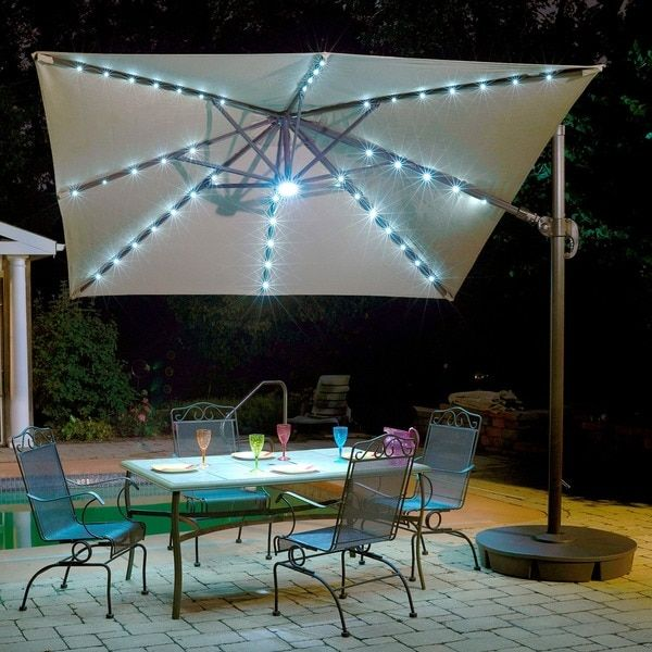 Rectangular Patio Umbrella With Solar Lights 12 Best Patio Umbrellas Images On Pinterest  Patio Umbrellas