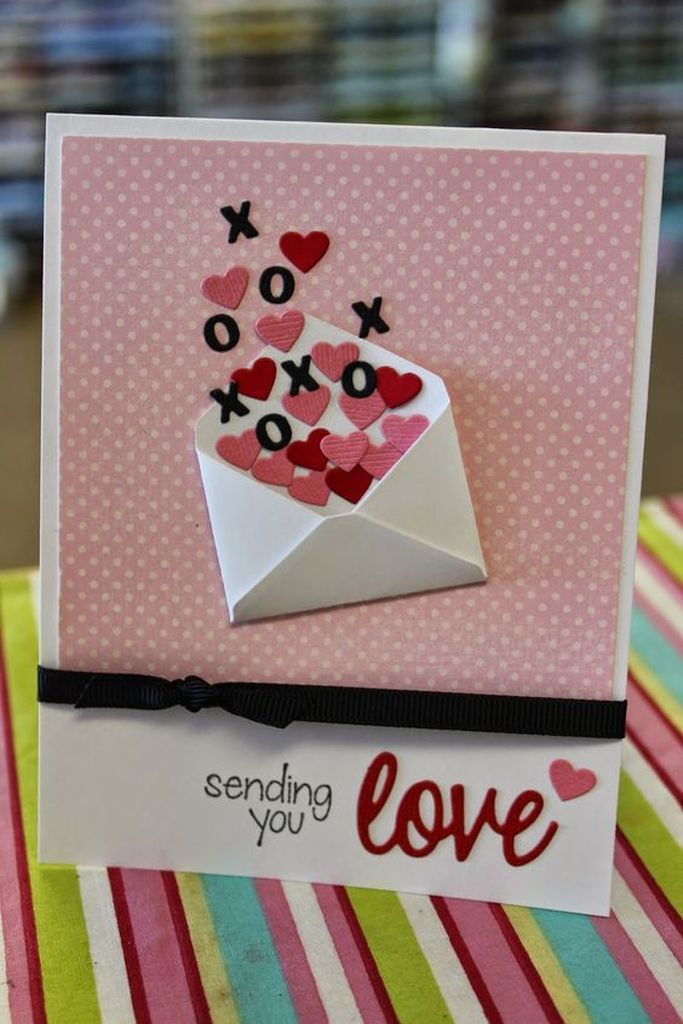 20 Pretty Diy Valentine S Day Card Ideas Godiygo Com Valentines Day Cards Diy Valentines Cards Valentine Cards Handmade