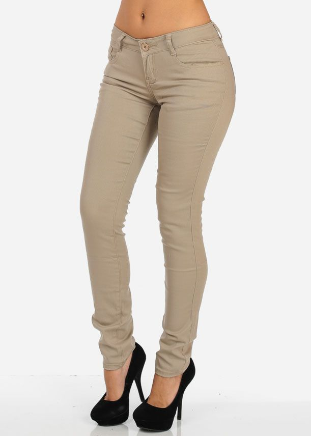 Best 20  Khaki skinny jeans ideas on Pinterest | Beige pants ...