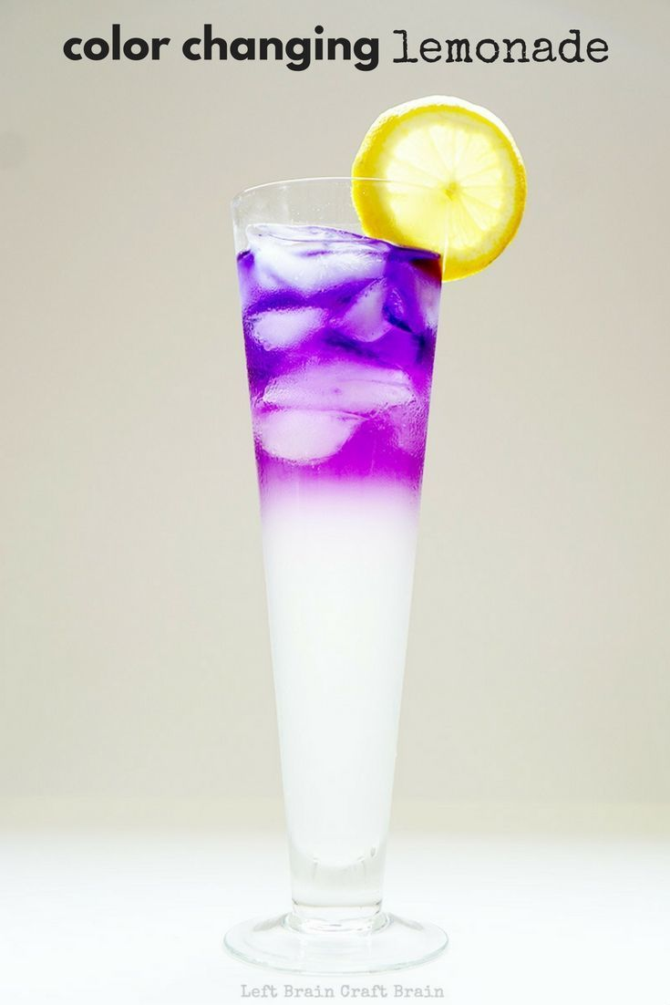 Make some color changing lemonade for a delicious and exciting edible science experiment. Perfect for STEM education at school and home. #sponsored