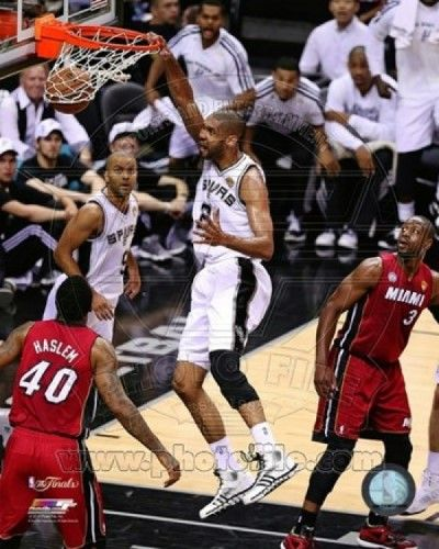 Tim Duncan Game 3 of the 2013 NBA Finals Action Sports Photo (8 x 10)