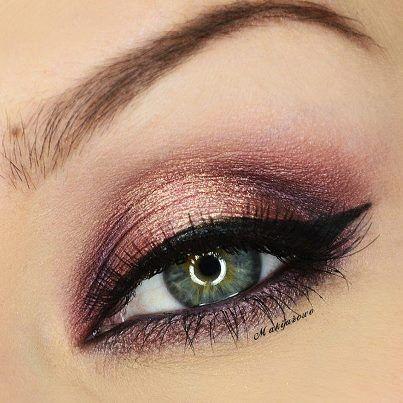 Rose gold makeup #eyeshadow #makeup #colorfulnewarrivals