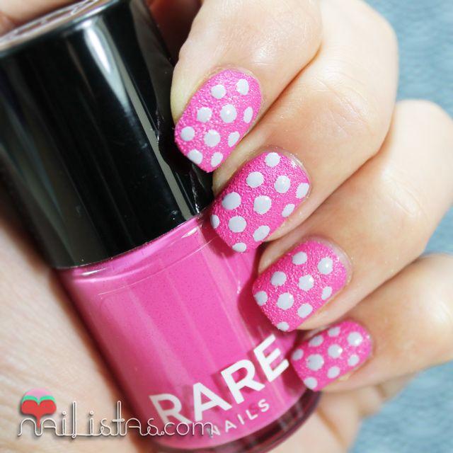 Texture Nail Polish   Polka dots   Uñas decoradas con lunares con esmalte con textura rare nails