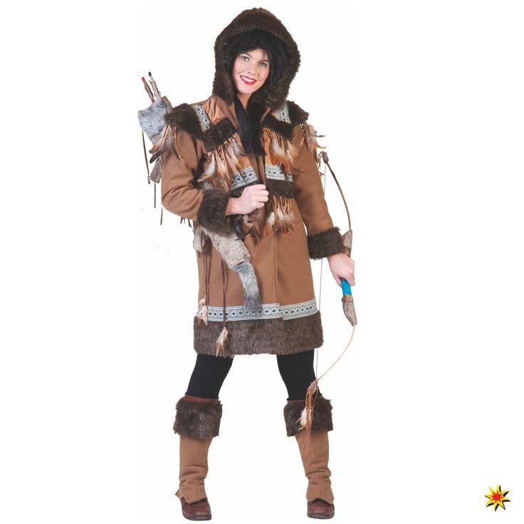 Damen Kostüm Eskimo Frau für Fasching und Mottoparty, Funny Fashion
