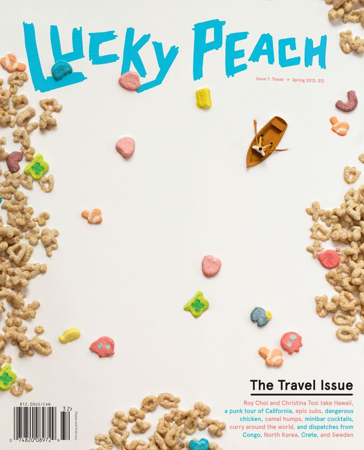 LUCKY PEACH 7: The Travel Issue. Roy Choi and Christina Tosi take hawaii, a punk tour of California, epic subs, dangerous chicken, camel humps, minibar cocktails, curry around the world, and dispatches from the Congo, North Korea, Crete, and Sweden ... words ... pictures ...