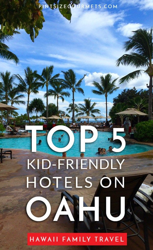 Planning a family trip to Oahu and wondering where to stay? Here are our 5 best kid-friendly hotels on Oahu that are great whether you're traveling with toddlers or teenagers!   Hawaii Travel / Things to do on Oahu / Where to Stay in Honolulu / Waikiki Beach / Things to do in Waikiki Beach / North Shore / Laie Point #VisitOahu #HawaiiTravel #Oahu