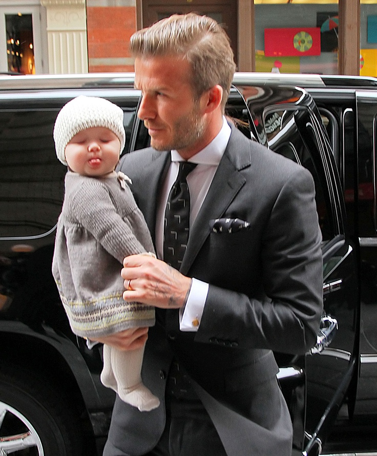 2011: David and Victoria had their first daughter, Harper Seven. The little chubster. | David Beckham