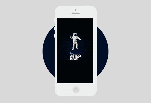 I am Astronaut by Maxim Mezentsev, via Behance