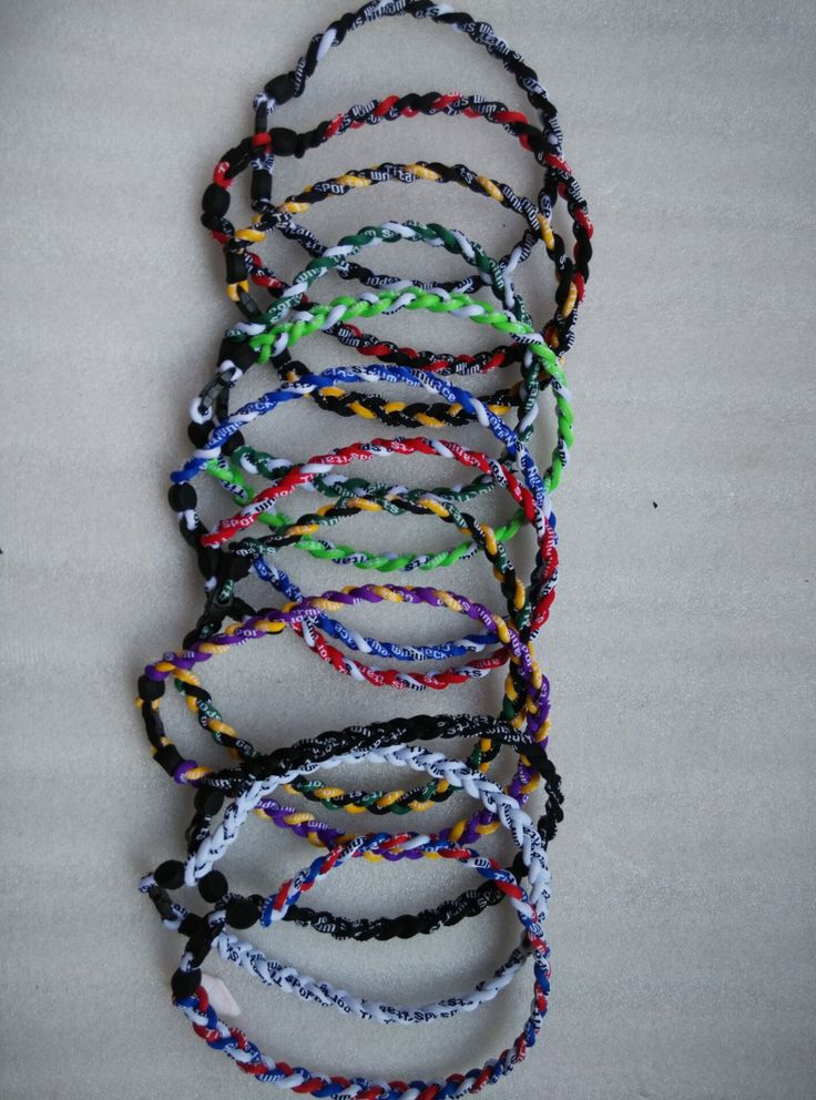 Titanium Ionic Sports Baseball Necklace 3-rope Tornado Braid Torques 16/18/20 inch  Men Collar Jewelry   Free Shipping